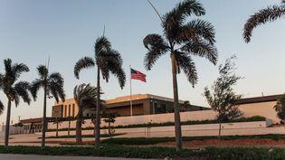 L'ambassade des Etats-Unis à Nouakchott, la capitale de la Mauritanie, photographiée le 31 mars 2019. (CARMEN ABD ALI / AFP)