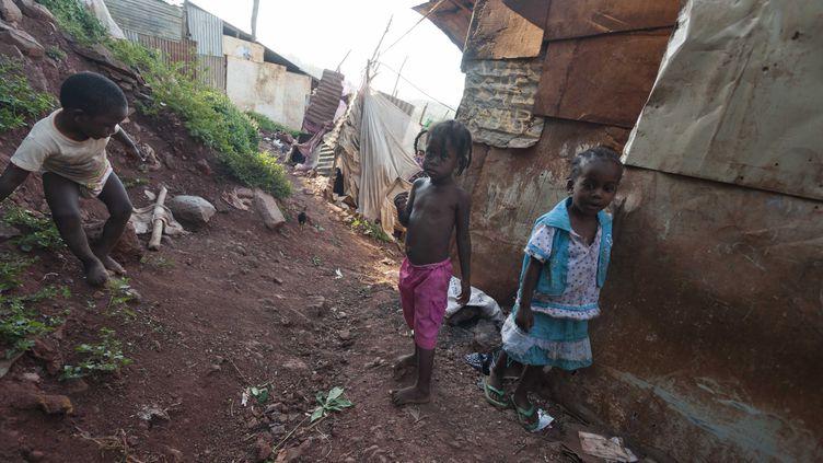 Le bidonville de Kaweni ou vivent les sans papiers comoriens. Ile de Mayotte,juin 2012  (DELAGE JEAN-MICHEL / SIPA)