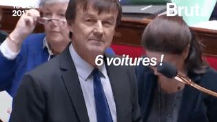 À l'Assemblée, Nicolas Hulot répond aux députés qui le raillent à propos de ses voitures (BRUT)