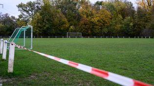 Un terrain d'entraînement àDurlach, en Allemagne, le 1er novembre 2020. (HELGE PRANG / GES-SPORTFOTO / AFP)