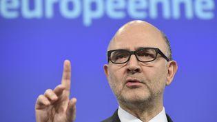 Pierre Moscovici, le 5 février 2016, à Bruxelles. (JOHN THYS / AFP)