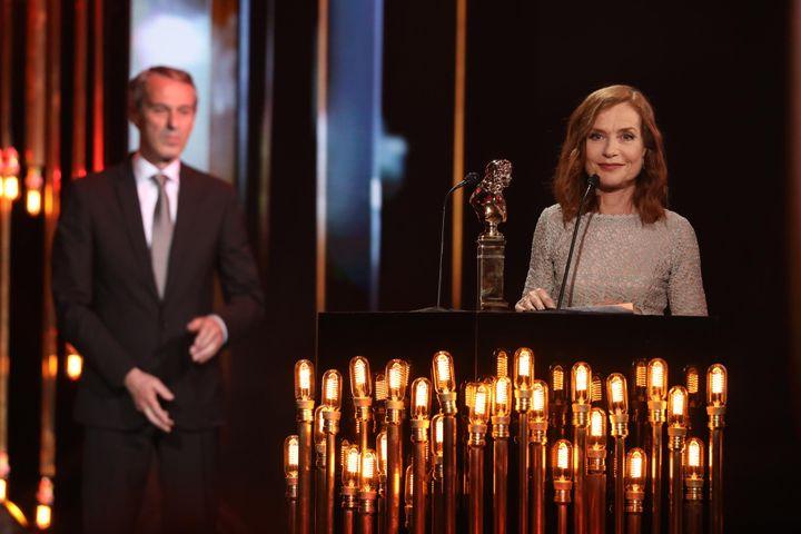 Molière d'honneur pour Isabelle Huppert  (Romuald MEIGNEUX - FTV)