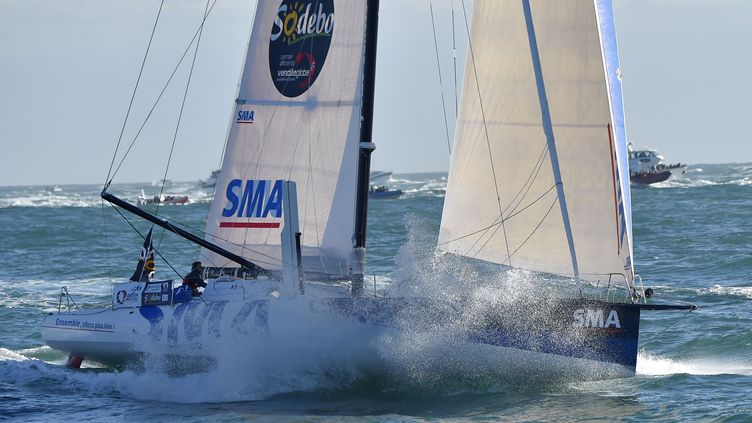 Le skipper français Paul Meilhat (SMA) (LOIC VENANCE / AFP)