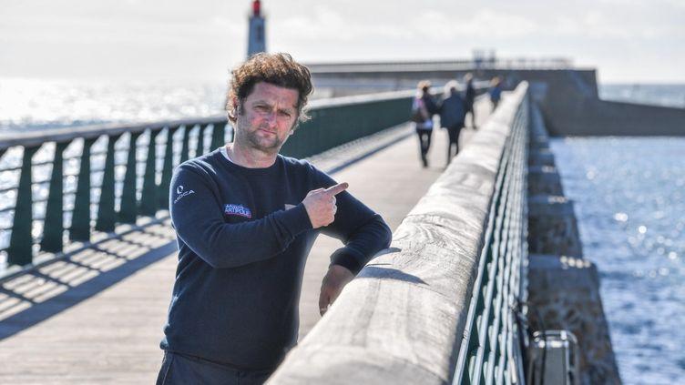 Arnaud Boissières à quai au bout du chenal des Sables-d'Olonne