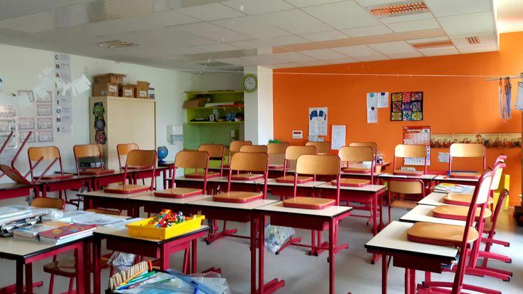 Les classes vont être réorganisées pour accueillir les élèves à partir du 12 mai, comme ici à l'école Jean Zay de Niort (Deux-Sèvres). (NOÉMIE GUILLOTIN / FRANCE-BLEU POITOU)