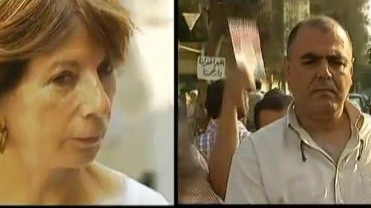 Torra Fiani, chef d'entreprise eu Caire et Khalid Moatassim - juillet 2013 - capture d'écran ( FRANCE 2 / FRANCETV INFO)