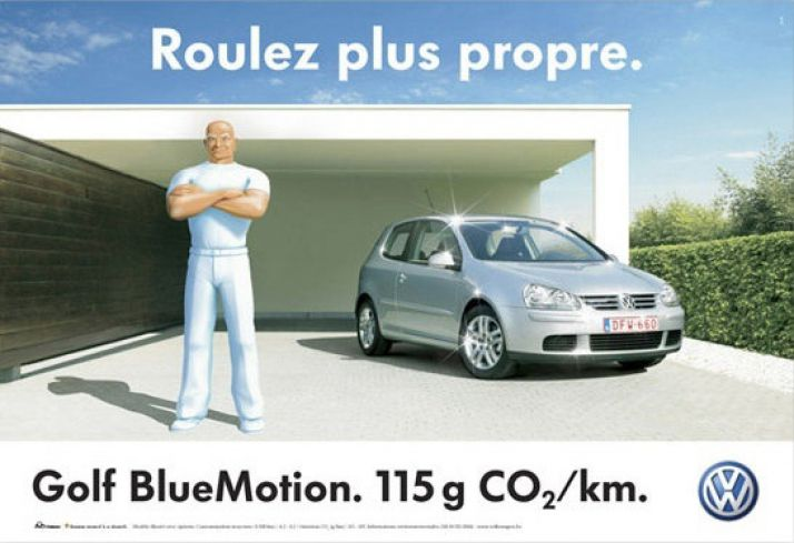 Une campagne publicitaire de Volkswagen mettant en scène Monsieur Propre. (VOLKSWAGEN)