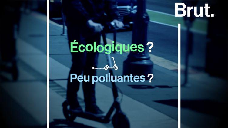 VIDEO. Les trottinettes électriques en libre-service sont-elles vraiment écologiques ? (BRUT)
