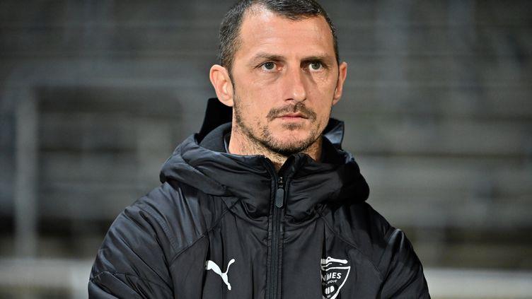 L'ancien entraîneur de Nîmes, Jérôme Arpinon, mis à pied le 5 février 2021 (PASCAL GUYOT / AFP)