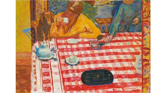"Pierre Bonnard, ""Le Café"", 1915. Huile sur toile, 73 × 106,4 cm.Tate, Don de Sir Michael Sadler par l'entremise d'Art Fund 1941. (PHOTO: © 2012, TATE, LONDON© 2012, PROLITTERIS, ZURICH)"