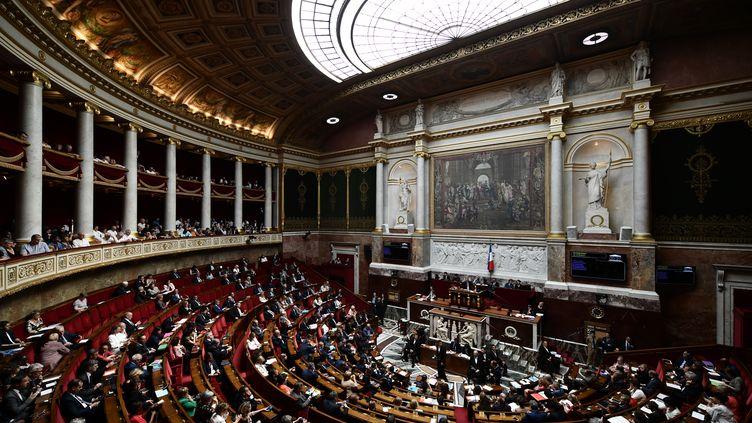 L'Assemblée nationale, lors des questions au gouvernement, à Paris, le 20 juin 2018. (PHILIPPE LOPEZ / AFP)