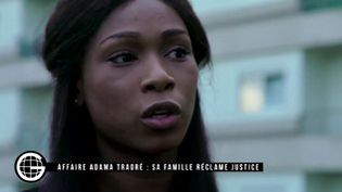"""Assa Traoré, la sœur d'Adama Traoré, dans """"le Gros journal"""" de Canal plus, diffusé le 28 septembre 2016. (CANAL PLUS)"""