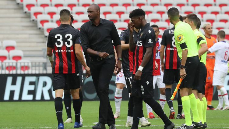 Patrick Vieira a été démis de ses fonctions d'entraîneur de l'OGC Nice (VALERY HACHE / AFP)