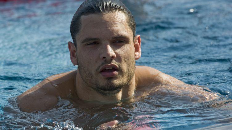 Le nageur marseillais Florent Manaudou (THIERRY ZOCCOLAN / AFP)
