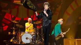 Les Rolling Stones lors d'un concert à Sao Paulo (Brésil),le 27 février 2016. (FLAVIO HOPP / BRAZIL PHOTO PRESS / AFP)