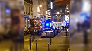 Une attaque au couteau a été perpétrée près de la place de l'Opéra à Paris, dans la soirée du 12 mai 2018. (NICOLAS JOUBERT / AFP)