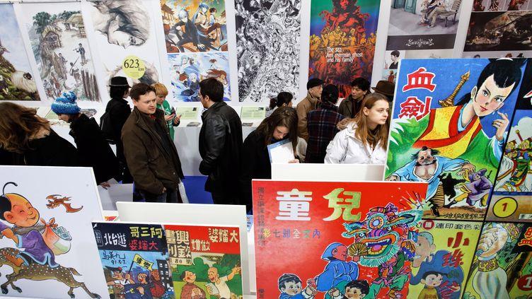 Lors de l'édition 2012 du festival de bande dessinée d'Angoulême. (PIERRE DUFFOUR / AFP)