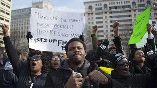 """Des manifestants défilent le 13 décembre 2014 à Washington (Etats-Unis) pour réclamer la """"justice pour tous"""". (JIM WATSON / AFP)"""