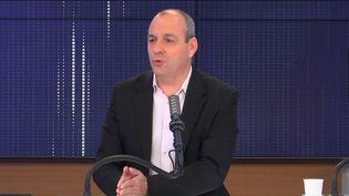 Laurent Berger, secrétaire général de la CFDT, sur franceinfo le samedi 1er mai 2021. (FRANCEINFO / RADIOFRANCE)