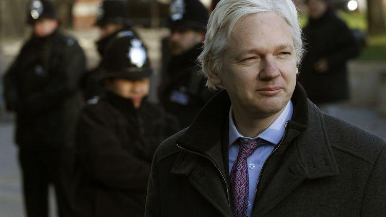 Julian Assange, le fondateur de WikiLeaks, le 2 février 2012 à Londres. (ANDREW WINNING / REUTERS)