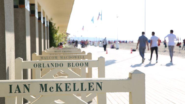 Les célèbres planches sur lesquelles sont disposées des cabines portant les noms d'acteurs ou réalisateurs américains. (Photo d'illustration) (MAXPPP)