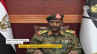 Abdel Fattah Al-Burhane serait aux commandes des opérations qui ont conduit à un coup d'Etat lundi 25 octobre. (FRANCEINFO)