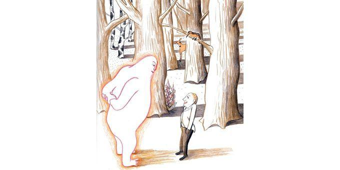 Le Petit homme et Dieu  (Kitty Crowther /  Editions Pastel)