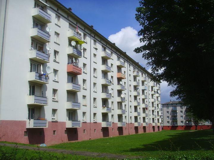 Le quartierde La Meinau, à Strasbourg (Bas-Rhin),où plusieurs membres d'une filière jihadiste ont été arrêtés, le 13 mai 2014. (CITIZENSIDE / ALPHA CIT / AFP)