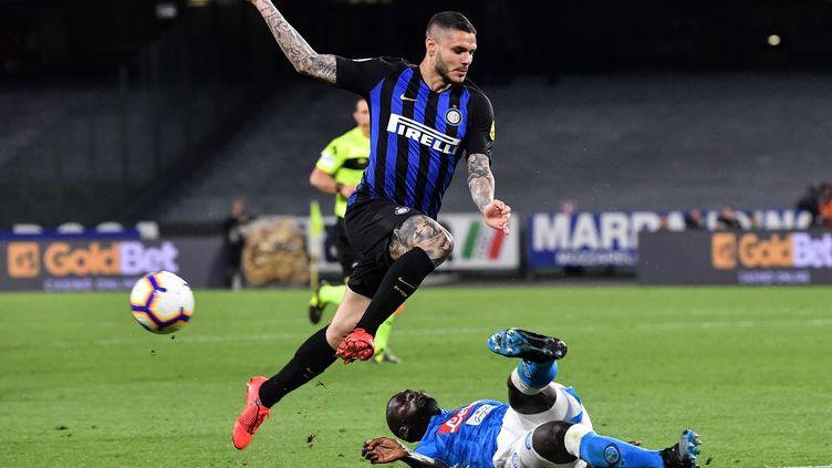 L'attaquant argentin Mauro Icardi est prêté au PSG par l'Inter Milan. (ANDREAS SOLARO / AFP)