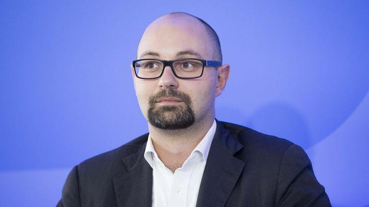 Thomas Guénolé lors du colloque au Conseil supérieur de l'audiovisuel, le 6 octobre 2015. (CHRISTOPHE MORIN  / MAXPPP)