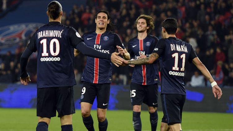 Le trio offensif du PSG Ibrahimovic, Cavani, Di Maria a été convaincant face à Saint-Etienne