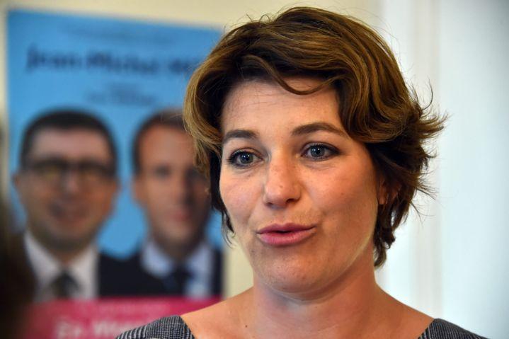 Magalie Viallon, candidate de La République en marche, le 18 juin 2017, à Saint-Etienne (Loire). (MAXPPP)