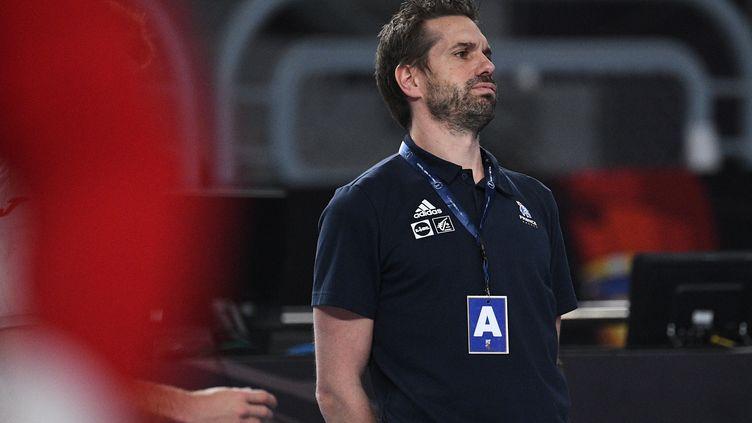 Guillaume Gille, l'entraîneur de l'équipe de France masculine  (ANNE-CHRISTINE POUJOULAT / AFP)