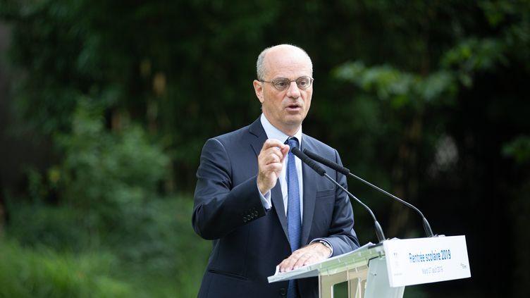Le ministre de l'Education, Jean-Michel Blanquer, présente la rentrée scolaire, le 27 août 2019 à Paris. (MAXPPP)