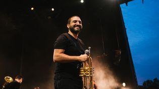 Ibrahim Maalouf sur la scène des Nuits de Fourvière à Lyon (Paul Bourdrel)