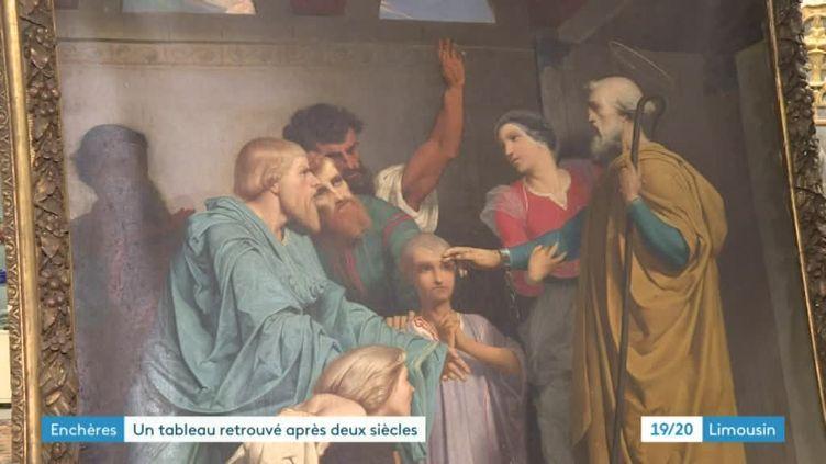 Détail deSaint Pierre introduit dans la maison de Marie de Gustave Boulanger (1824-1888) (France 3 Limousin R. Abd El Nour)