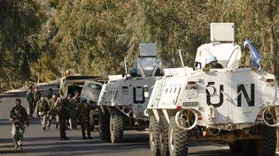 Une patrouille de la Force intérimaire des Nations unies au Liban (Finul), dans le sud du pays, le 29 novembre 2011. (MAHMOUD ZAYYAT / AFP)