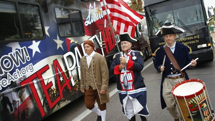 Défilé Tea Party à Phoenix (Arizona, 22 octobre 2010) (AFP/Joshua LOTT)