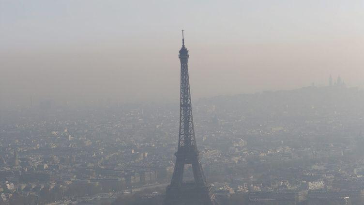 Un nuage de pollution au-dessus de Paris, le 24 avril 2013. (MAXPPP)