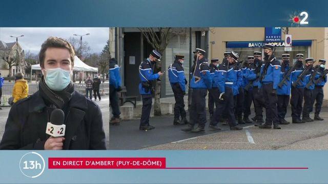 Gendarmes tués dans le Puy-de-Dôme : une cérémonie d'hommage organisée à Ambert
