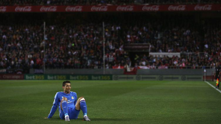 Cristiano Ronaldo à terre, le Real a encore perdu (? MARCELO DEL POZO / REUTERS / X90017)