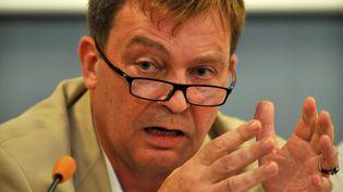 Pierre Henry, président de l'association France Terre d'Asile. (PIERRE ANDRIEU / AFP)