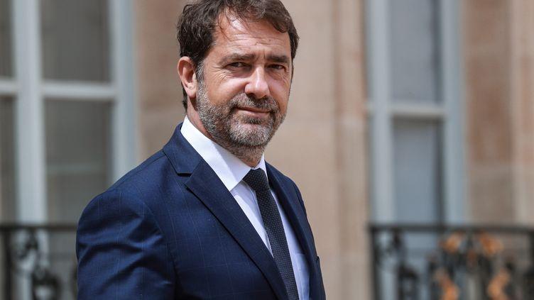 Christophe Castaner le 10 juin 2020 à la sortie de l'Élysée, quand il était encore ministre de l'Intérieur. (LUDOVIC MARIN / AFP)