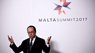 François Hollande, le 3 février 2017 à La Valette (Malte). (ALEXANDROS MICHAILIDIS / SOOC / AFP)