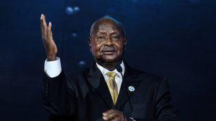 Le président ougandais Yoweri Museveni lors d'une conférence économique au Kenya le 26 novembre 2018. (YASUYOSHI CHIBA / AFP)