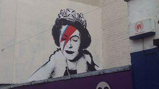 Une oeuvre attribuée à Banksy sur un mur de Bristol. Juin 2012.  (@themensah / Instagram)