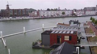 Les Pays-Bas sont confrontés à une soudaine montée des eaux depuis quelques jours. 1/4 de la population vit près d'un cours d'eau. (CAPTURE ECRAN / FRANCEINFO)