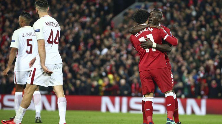 Salah et Mané, décisifs face à la Roma (DAVE THOMPSON/AP/SIPA / AP)