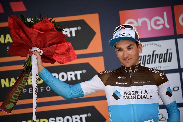 Nans Peters lors de sa troisième place Gran Piemonte 2019. (MARCO BERTORELLO / AFP)