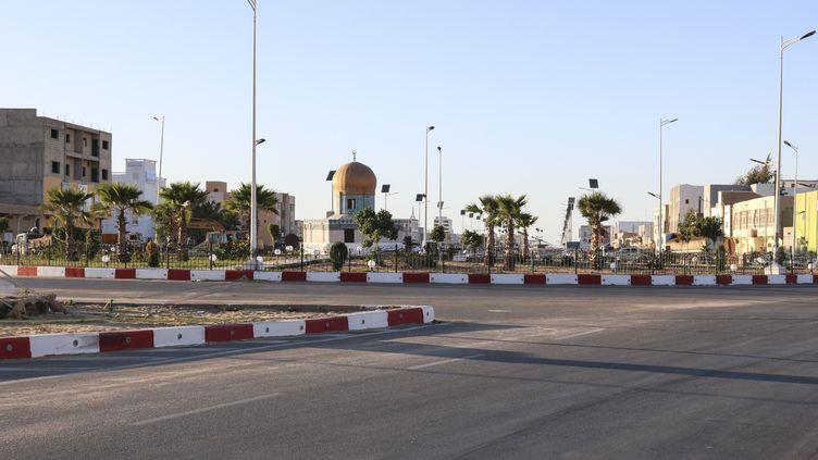 Les rues vides de Nouakchott, la capitale mauritanienne, le 5 avril 2020. (CHEYAKHEY ALI / ANADOLU AGENCY / AFP)
